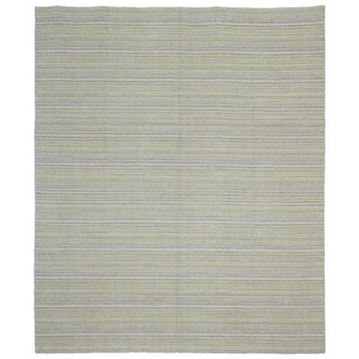 One-of-a-Kind Laquecia Oriental Hand Woven Wool Gray Area Rug