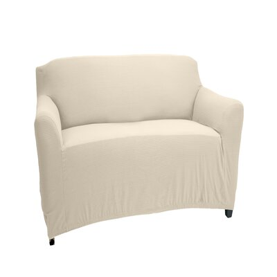 Stretch Fit Box Cushion Recliner Slipcover Upholstery: Ivory