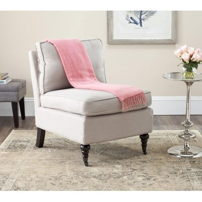 Armless Slipper Chair Upholstery: Taupe, Nailhead Detail: No