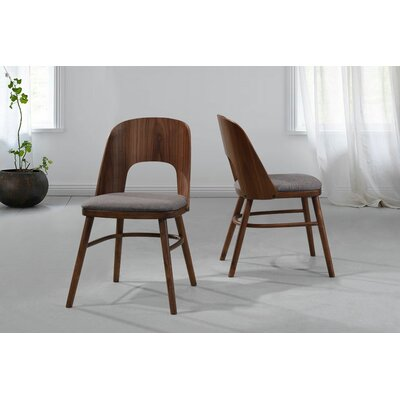Giovanna Upholstered Dining Chair with Wood Seat Back