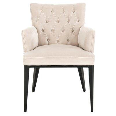Martinez Velvet Armchair Upholstery: Giotto Almond