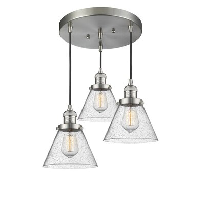 Boutte 3-Light Cluster Pendant Finish: Brushed Satin Nickel