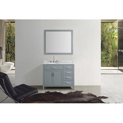 Weatherford 43 Single Bathroom Vanity Set with Mirror Base Finish: Gray