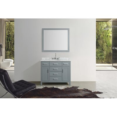 Weatherford 43 Single Bathroom Vanity Set with Mirror Base Finish: Gray