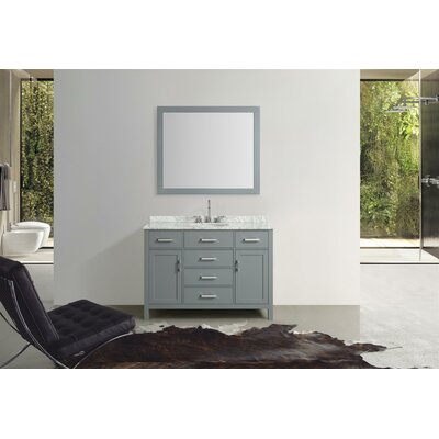 Weatherford 49 Single Bathroom Vanity Set with Mirror Base Finish: Gray
