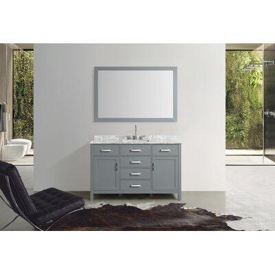 Weatherford 55 Single Bathroom Vanity Set with Mirror Base Finish: Gray