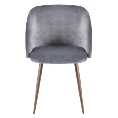 Hollin Upholstered Dining Chair Color: Gray