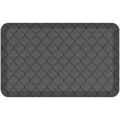 Helle Comfort Kitchen Mat Mat Size: Rectangle 18 x 28, Color: Gray