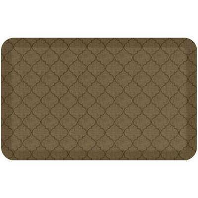 Helle Comfort Kitchen Mat Mat Size: Rectangle 18 x 28, Color: Tan