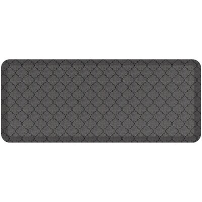 Helle Comfort Kitchen Mat Mat Size: Rectangle 18 x 4, Color: Gray