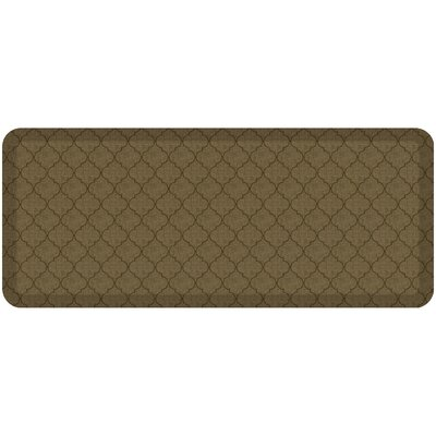 Helle Comfort Kitchen Mat Mat Size: Rectangle 18 x 4, Color: Tan