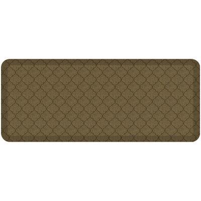 Helle Comfort Kitchen Mat Mat Size: Rectangle 18 x 4, Color: Tan