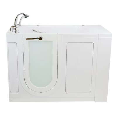 Monaco Hydro Massage and Heated Seat 52 x 32 Walk in Whirlpool Bathtub with Fast Fill Faucet Set