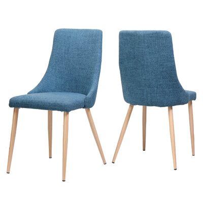 Sarita Upholstered Dining Chair Upholstery Color: Blue