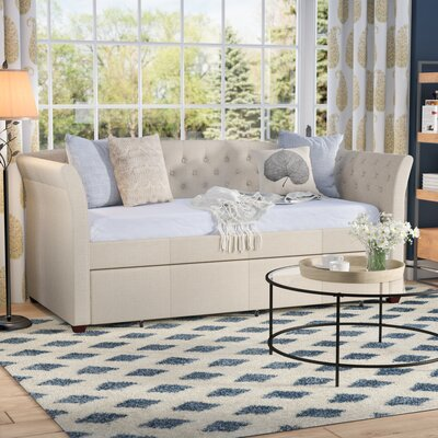 Milligan Twin Daybed with Trundle Color: Beige