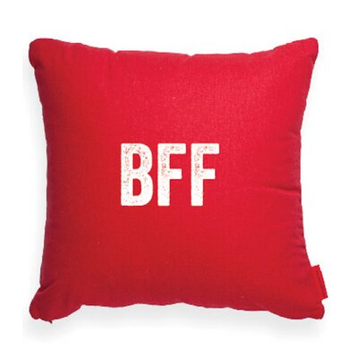 Pettis Best Friends Forever Throw pillow Pillow Cover Color: Red