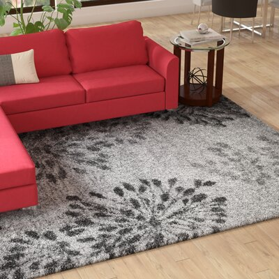 Thalia Gray Shag Area Rug Rug Size: Rectangle 710 x 106
