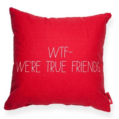 Pettis Were True Friends Throw Pillow