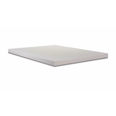 Copper Infused Memory Foam Mattress Topper Bed Size: King