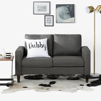 Live-It Cozy Standard Loveseat Upholstery: Charcoal Gray