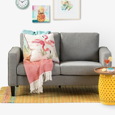 Live-It Cozy Standard Loveseat Upholstery: Gray Fog