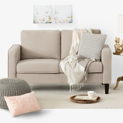 Live-It Cozy Standard Loveseat Upholstery: Oatmeal Beige