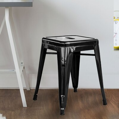 Shelli 18 Bar Stool Color: Black