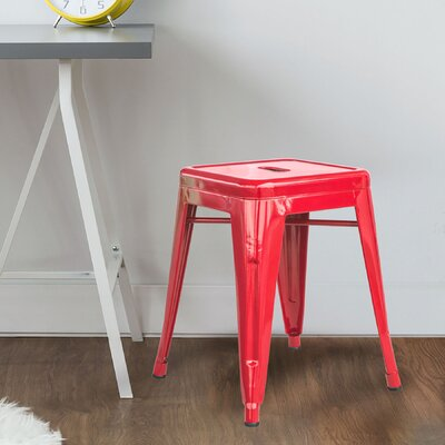 Shelli 18 Bar Stool Color: Red