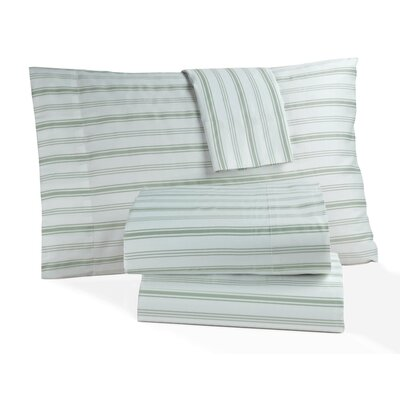 Hampton Stripe 300 Thread Count 100% Cotton Sheet Set Size: Queen