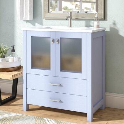 Lapp Modern 30 Single Bathroom Vanity Set Base Finish: Gray