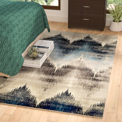Abril Beige/Blue Area Rug Rug Size: Rectangle 5 x 8