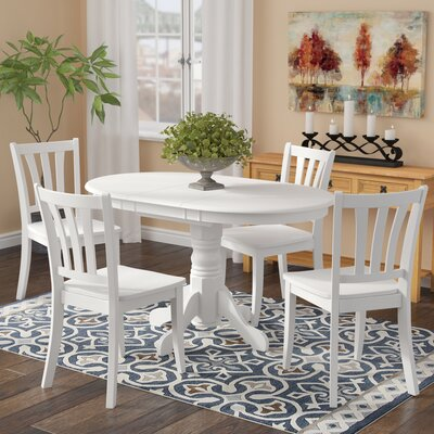 Liggett 5 Piece Dining Set Finish: White