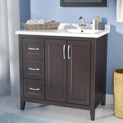 Maldonado 36 Single Bathroom Vanity Set Top Finish: Espresso