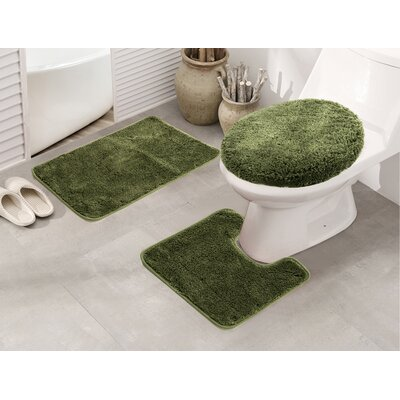 Cherrelle 3 Piece Bath Rug Set Color: Sage
