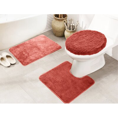 Cherrelle 3 Piece Bath Rug Set Color: Terracotta