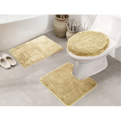 Cherrelle 3 Piece Bath Rug Set Color: Camel