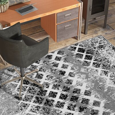 Fort Garland Gray Area Rug Rug Size: Rectangle 52 x 73