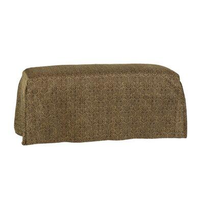 Long Pleated Bench Slipcover Upholstery: Portigo Saddle
