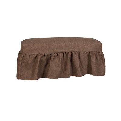 Long Gathered Bench Slipcover Upholstery: Lisburn Rattan