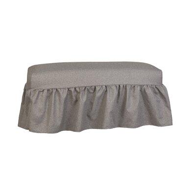 Long Gathered Bench Slipcover Upholstery: Bentley Charcoal