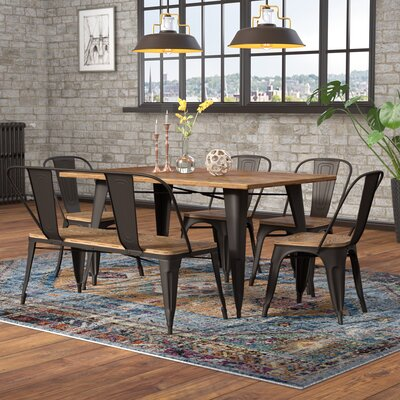 Claremont 6 Piece Dining Set Finish: Gray/Brown