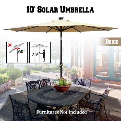 Yasmin Solar Patio 10' Market Umbrella FRPK2099 45370896