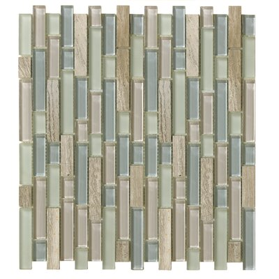 Treasure 12 x 13 Glass Gem Mosaic Tile in Gray Mist