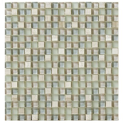 Treasure 12 x 12 Glass Gem Mosaic Tile in Gray Mist
