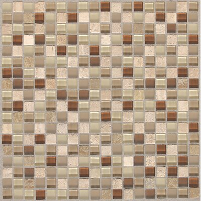 Treasure 12 x 12 Glass Gem Mosaic Tile in Caramel Splash