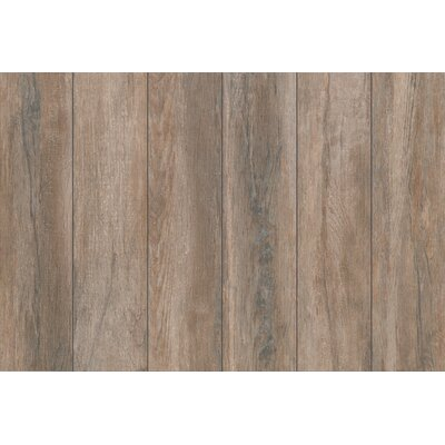 Stanbury Glazed 6 x 24 Porcelain Wood Look Tile in Toaster Walnut