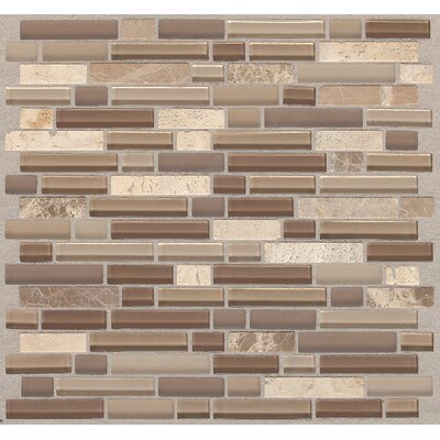 Treasure 12 x 13 Glass Gem Mosaic Tile in Pecan Taupe