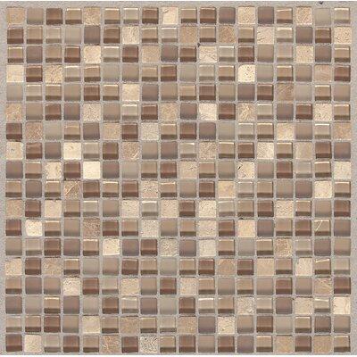 Treasure 12 x 12 Glass Gem Mosaic Tile in Pecan Taupe