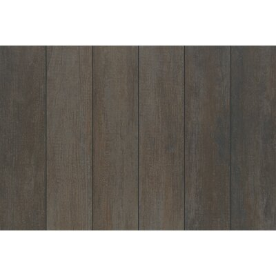Stanbury Glazed 6 x 24 Porcelain Wood Look Tile in Coffee Bean