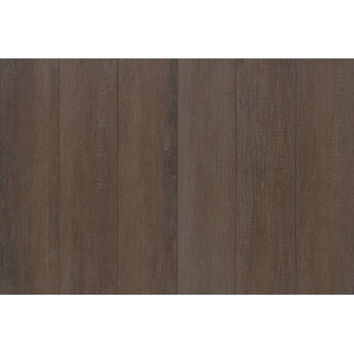 Stanbury Glazed 6 x 24 Porcelain Wood Look Tile in Natural Chocolate